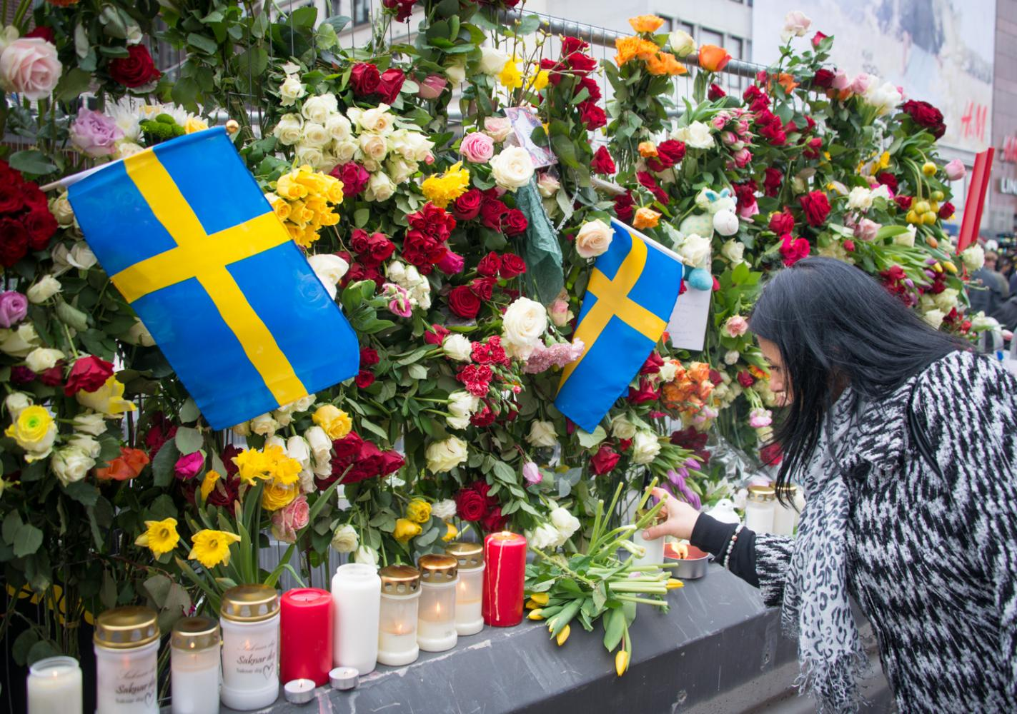 The day after the terrorist attack in Stockholm (Photo provided by By Frankie Fouganthin).